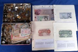 Coins & banknotes, heavy quantity (approx 12kg) of World coins, various ages (no silver noted), sold