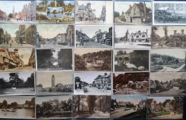 Postcards, Surrey, a selection of 71 sleeved cards, RP's & printed, inc. Croydon, Guildford,