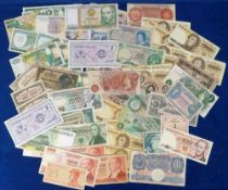 Bank Notes, an assoprtment of 80 notes, mainly Bank of England also Poland, Zambia, U.S.A., Japan,