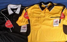 Football League Referee Match Worn shirts, six shirts, three medium size Nike shirts from 2003/04