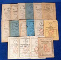 Horse Racing, Racecards, Leopardstown, 16 racecards with dates ranging between 1942 & 1967 (very