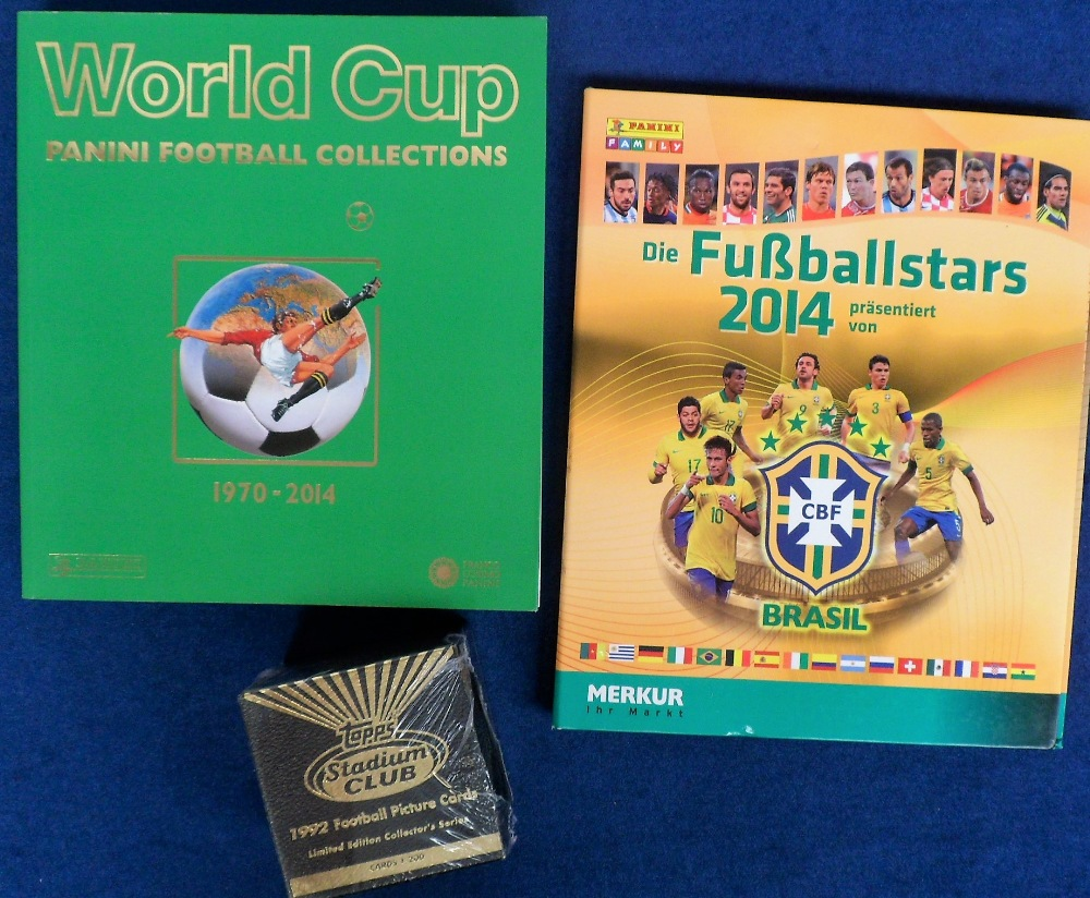 Trade cards, Panini German Album, 'Die Fussballstars 2014 Brazil', (complete with all cards), an