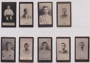 Cigarette cards, Smith's, Footballers (Brown back) 9 cards nos 7, 8, 14, 17, 52, 72, 95, 97 & 116 (