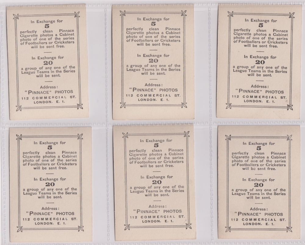 Cigarette cards, Phillips, Footballers (all Pinnace back), 'L' size, 13 different cards, all - Image 2 of 3