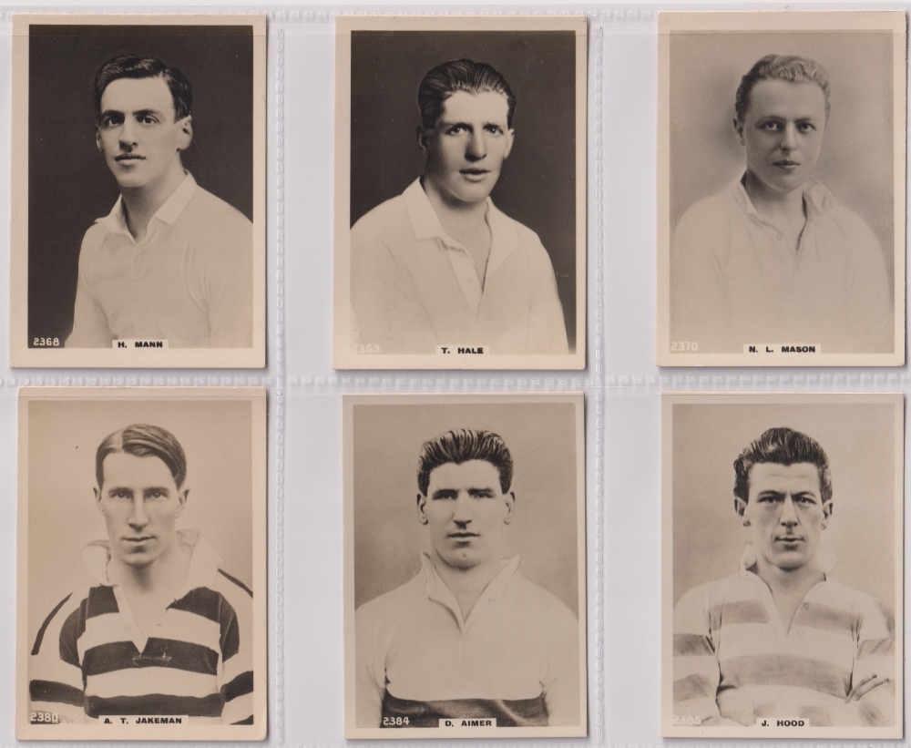 Cigarette cards, Phillips, Footballers (all Pinnace back), 'L' size, 36 different cards, numbered - Image 5 of 7