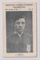 Trade card, Crescent Confectionery, Sportsmen, type card, Football, J. Brain, The Arsenal FC (gd) (