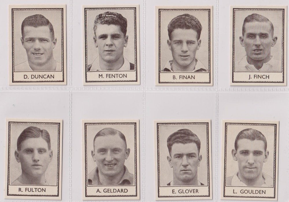 Trade cards, Barratt's, Famous Footballers (Numbered) 'M' size, 1939/40, ref HB-35 E, (set, 110 - Image 11 of 28
