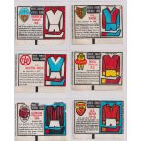 Trade cards, Anglo Confectionery, World-Famous Football Clubs (Wax issue) (37/72) includes West Ham,