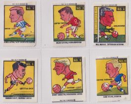 Trade cards, Webcosa, Footballers (Wax issue) (27/48) includes Bobby Charlton, Manchester United,