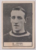 Trade card, Crescent Confectionery, Footballers, ref HC139, type card, B. Cross, Burnley (gd) (1)
