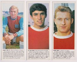 Trade cards, Carr's Biscuits, Soccer Card Series 'G' size (set, 20 cards) inc. George Best, Bobby