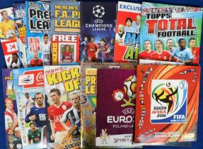 Trade cards, Football, a quantity of sticker albums, complete and part complete examples, mostly
