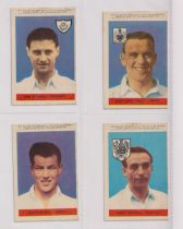 Trade cards, A&BC Gum, Footballers (With 'Planet Ltd', 47-92), 'X' size (set, 46 cards) includes