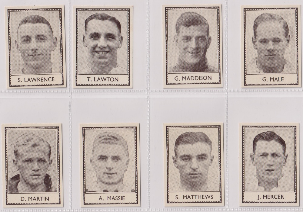 Trade cards, Barratt's, Famous Footballers (Numbered) 'M' size, 1939/40, ref HB-35 E, (set, 110 - Image 17 of 28