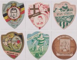 Trade cards, Baines Shields, 12 Football & Rugby issues for Rangers, Bradford, Plymouth Argyle,