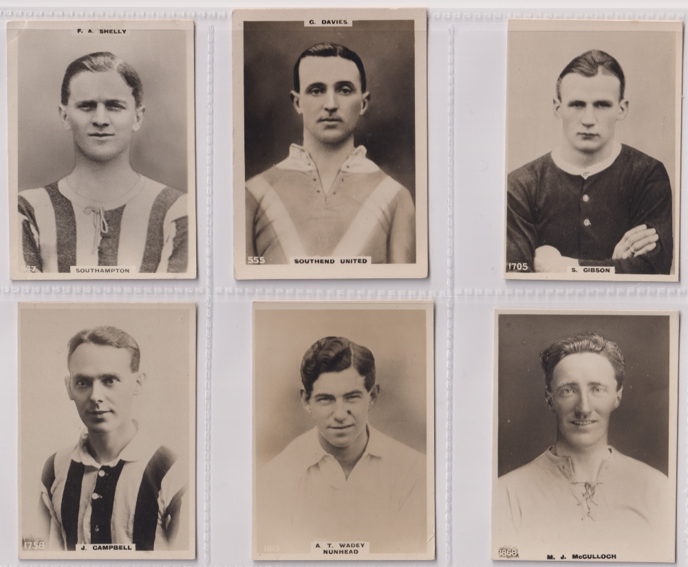 Cigarette cards, Phillips, Footballers (all Pinnace back), 'L' size, 36 different cards, numbered