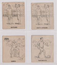 Trade cards, Battock's, Cricket & Football Cards (Painting & Crayoning Competition), b/w issues,