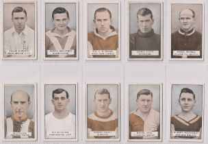 Cigarette cards, Gallaher, Famous Footballers (Green back) (set, 100 cards) (a few with sl marks,