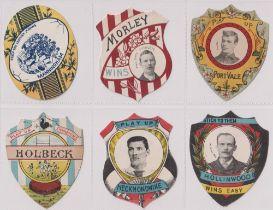 Trade cards, W N Sharpe, Play Up Football cards (6 cards) Port Vale, Manningham, Morley, Holbeck,