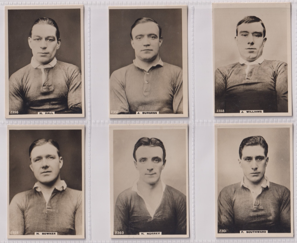 Cigarette cards, Phillips, Footballers (all Pinnace back), 'L' size, 36 different cards, numbered - Image 3 of 7
