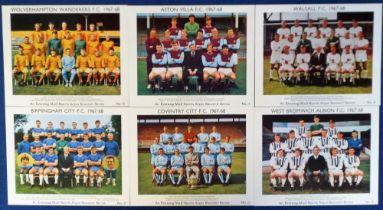 Trade cards, Evening Mail - Sports Argus, Footballer Souvenir Series, Midland Football Teams 1967/8,