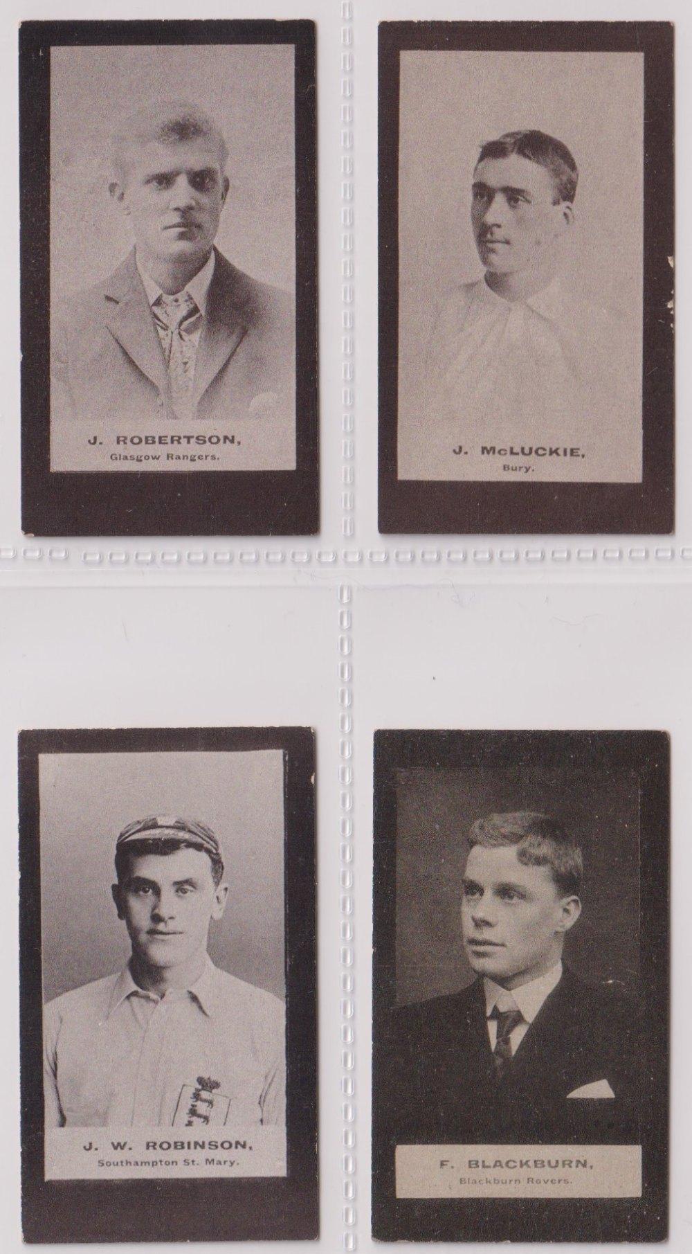 Cigarette cards, Smith's, Footballers (Brown back) 4 cards nos 4, 9, 14 & 33 (sl edge knocks gen