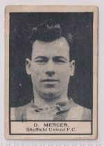 Trade card, Crescent Confectionery, Footballers, ref HC139, type card, D. Mercer, Sheffield