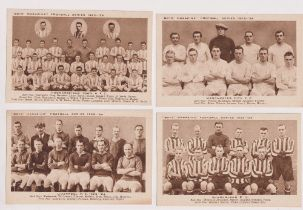 Trade cards, Boys Magazine, Football Teams, Brown Gravures, postcard size, set of 6 from Season