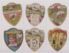 Trade cards, Baines, a collection of 40 shield shaped cards, all Football & Rugby teams,