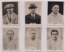 Cigarette cards, Phillips, Footballers (all Pinnace back), 'L' size, 13 different cards, all