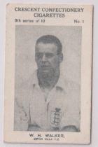Trade card, Crescent Confectionery, Sportsmen, type card, Football, W.H. Walker, Aston Villa (gd) (