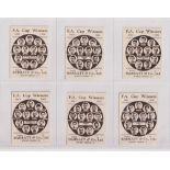 Trade cards, Football, Barratt's, F.A. Cup Winners, 6 cards, no 19 Tottenham 1901, no 24 Everton