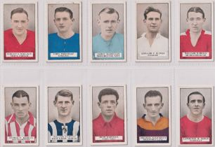 Cigarette cards, Gallaher, 2 sets, Famous Footballers (Brown back) & Footballers in Action, (some