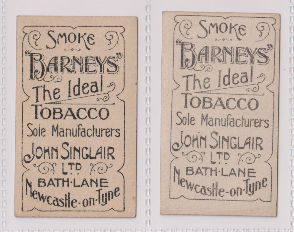 Cigarette cards, John Sinclair, Football Favourites, Newcastle U.F.C., two cards, no 66 J. Carr ( - Image 2 of 2