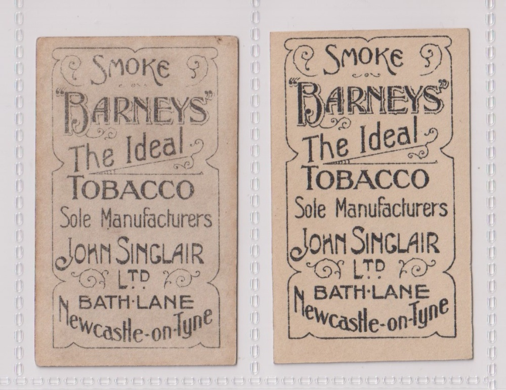 Cigarette cards, John Sinclair, Football Favourites, Newcastle U.F.C., two cards, no 73, J. Howie ( - Image 2 of 2
