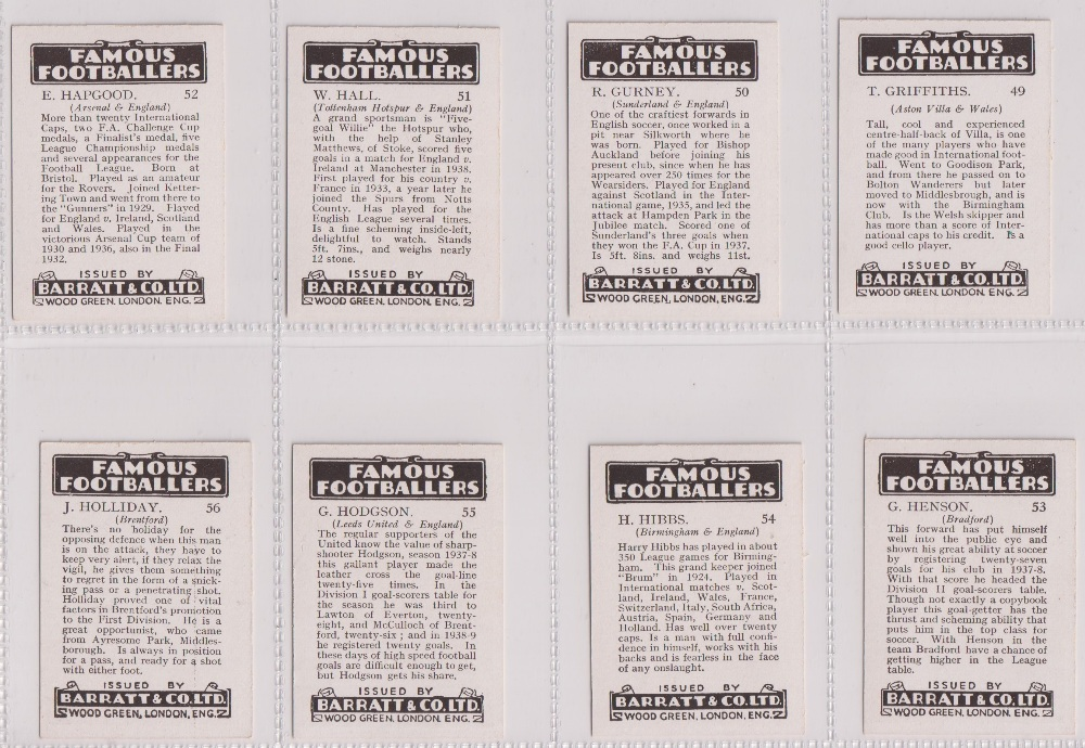 Trade cards, Barratt's, Famous Footballers (Numbered) 'M' size, 1939/40, ref HB-35 E, (set, 110 - Image 14 of 28