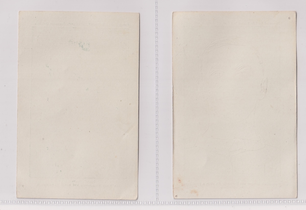 Trade cards, Nelson Lee Library, Footballers, greenish-grey halftones, 'P' size, English issue (9/ - Image 2 of 4