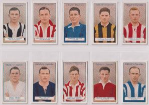 Cigarette cards, Gallaher, Footballers, 2 sets (1-50) & (51-100) (50 cards in each, mostly gd)