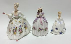 Three Royal Doulton lady figures 'Diana' HM2468, 'Sweet Anemone' and 'Moonlight Rose' HN3483 (3).