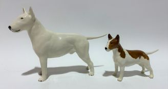 Beswick Pottery English bulldog figure 'Romany Rhinestone', height 13.5cm; together with a smaller