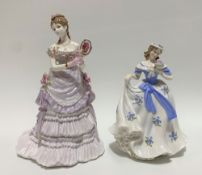 Two Royal Worcester lady figures 'A Royal Presentation' edition No.6019/125000 and 'Sweet Forget-