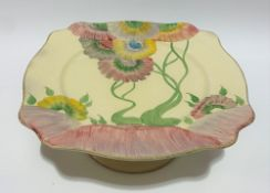 A Clarice Cliff Royal Staffordshire Pottery A.J. Wilkinson Ltd comport, Honeyglaze range and in