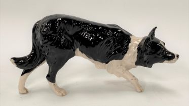 A Royal Doulton model of a sheepdog, width 20cm.