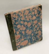 An interesting 19th century sketch book by Henry Green, Bangalore, dated January 3rd 1850, with