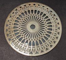 A George V silver mounted glass teapot stand, maker Aitken Bros. Ltd., Birmingham 1925, diameter