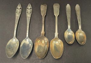 An early Victorian provincial silver teaspoon, maker TW, Newcastle 1839, together with a Victorian