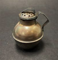 A Victorian silver miniature Jersey measure pepper shaker, maker WC & Co, Birmingham 1901, height