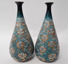 A pair of Royal Doulton Slaters patent bottle vases No.2367, height 23cm.