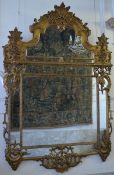 Large gilt wood mirror in Régence style (240x160)
