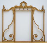 Louis XVI screen in gilt wood (117x188 cm)